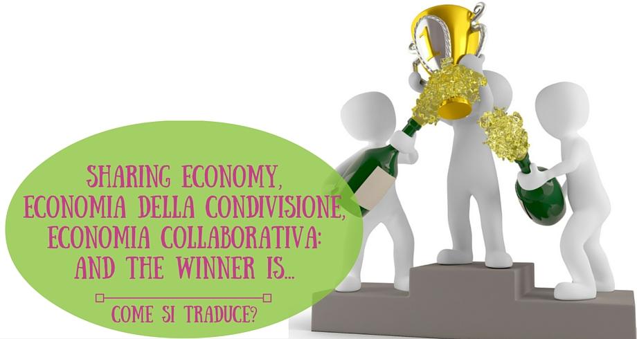 Sharing economy, economia della condivisione, economia collaborativa