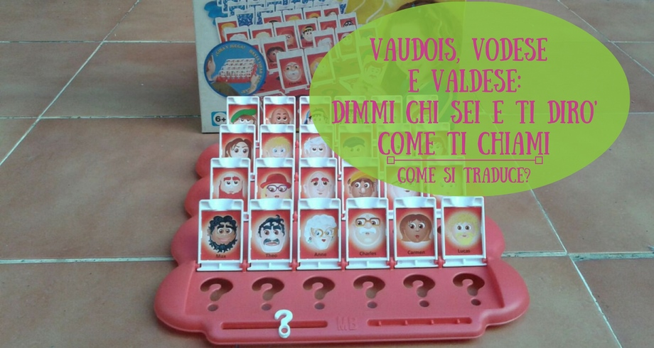 Vaudois, vodese e valdese