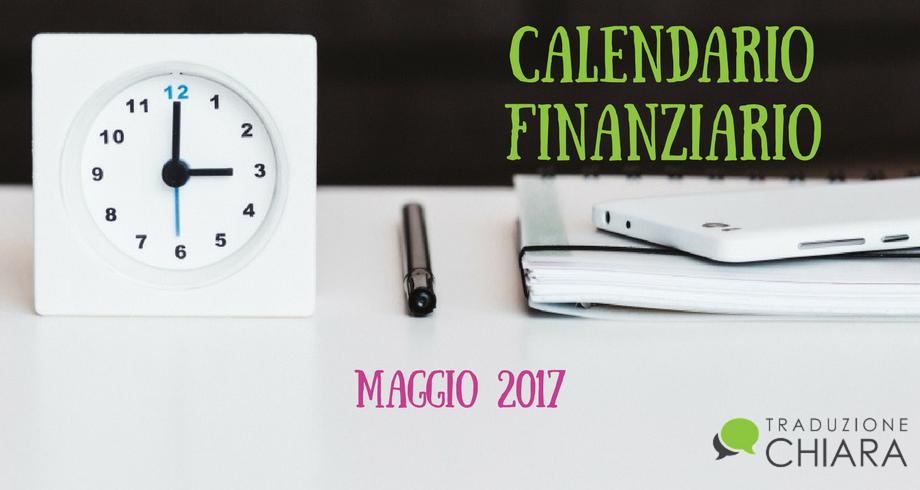 calendario finanziario
